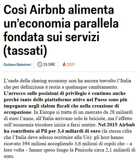 Così Airbnb alimenta un'economia parallela fondata sui servizi (Business Insider Italia)