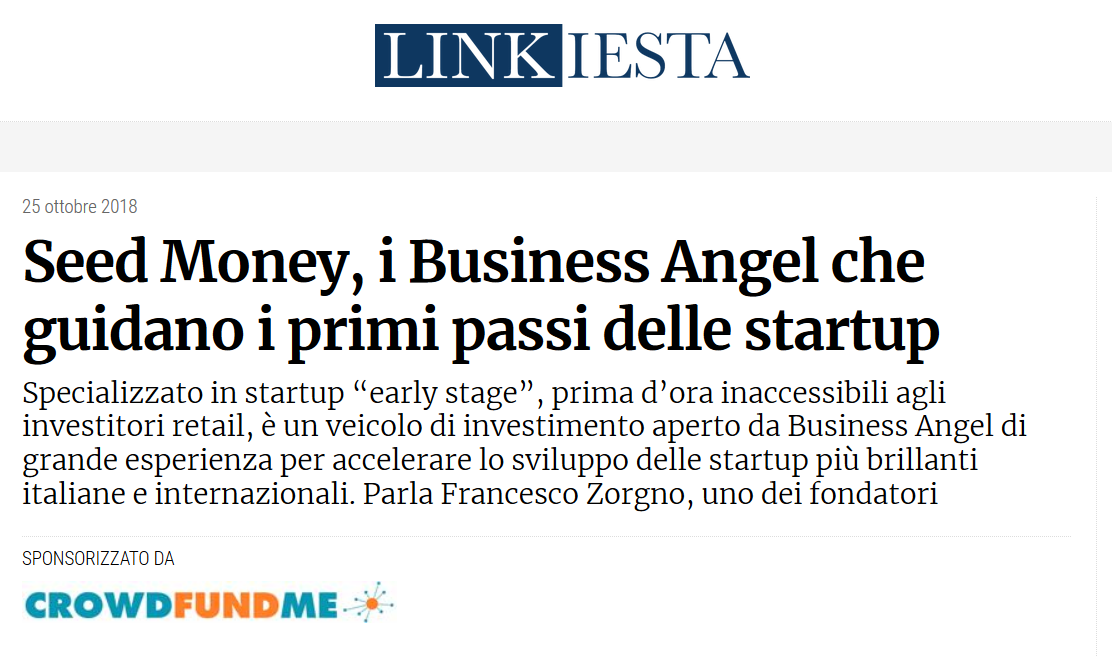Seed Money, i Business Angel che guidano i primi passi delle startup (Linkiesta)