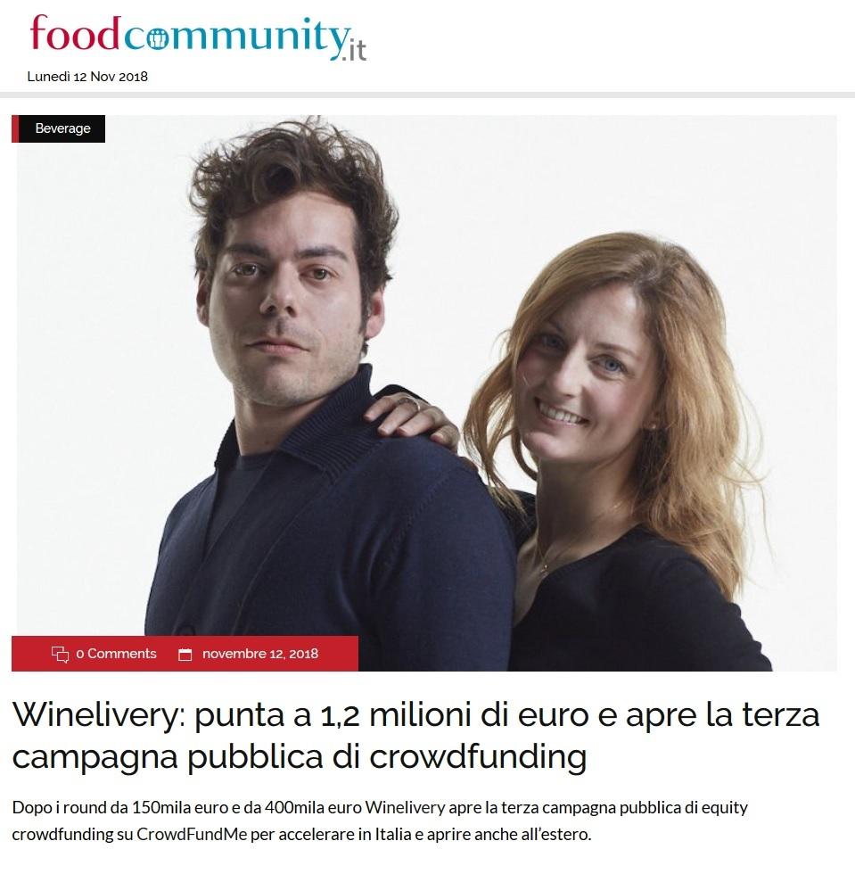 Winelivery: punta a 1,2 milioni di euro e apre la terza campagna pubblica di crowdfunding (FoodCommunity.it)