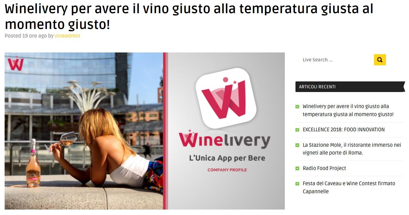 Winelivery per avere il vino giusto alla temperatura giusta al momento giusto! (Vino TV)
