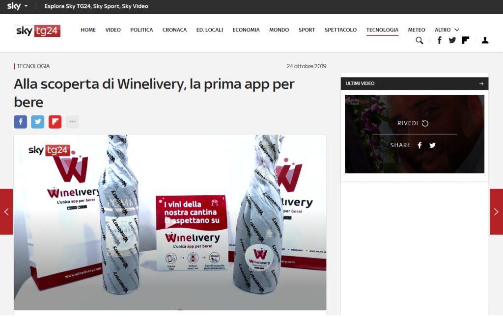 Alla scoperta di Winelivery, la prima app per bere (Sky TG24)