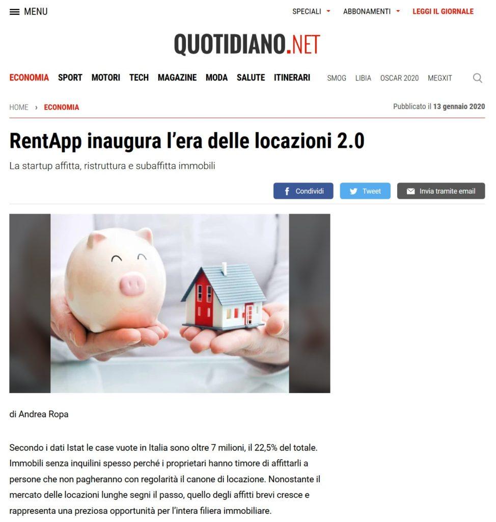 RentApp inaugura l'era delle locazioni 2.0 (Quotidiano.net)