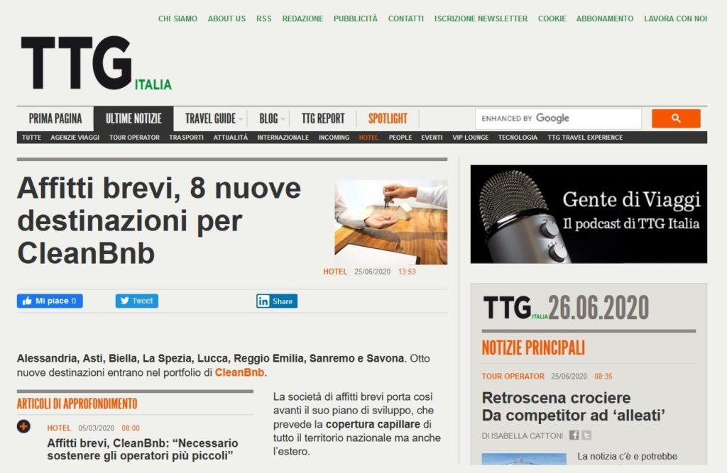 Affitti brevi, 8 nuove destinazioni per CleanBnB (TTG Italia)