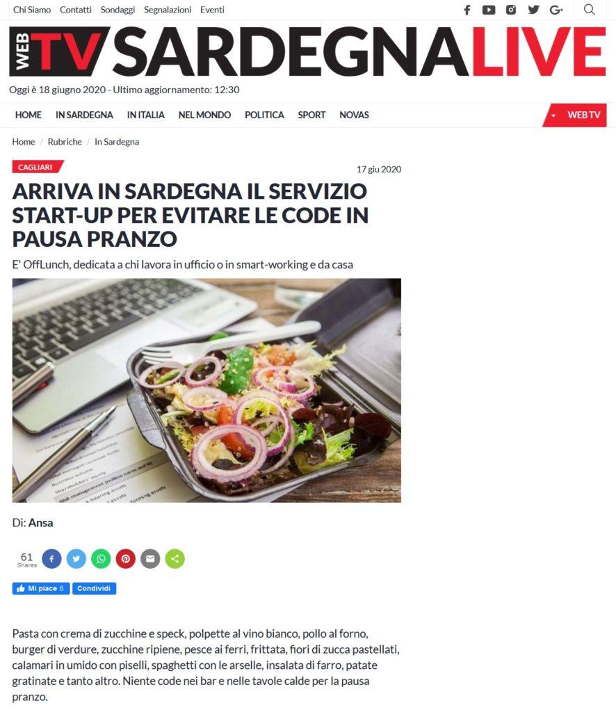 Arriva in Sardegna il servizio start-up per evitare le code in pausa pranzo (Sardegna Live)