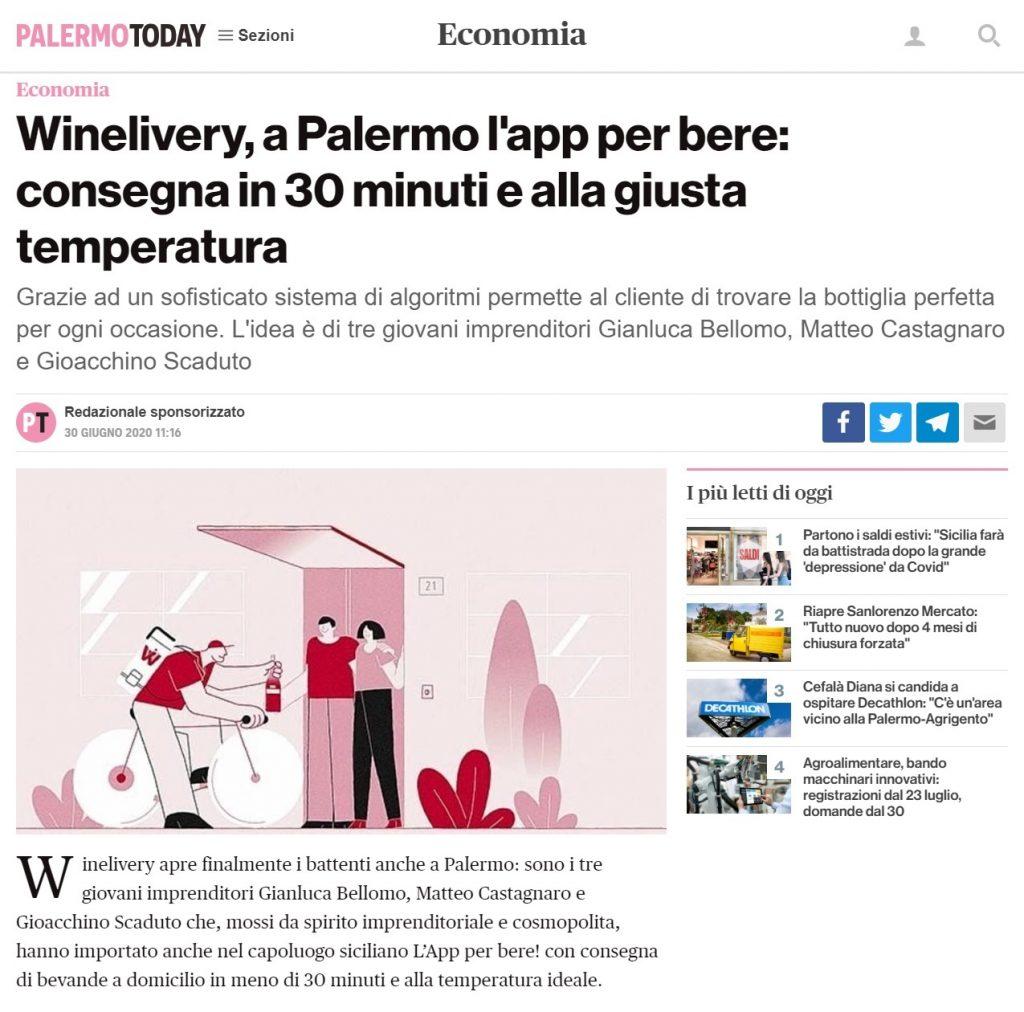 Winelivery, a Palermo l'app per bere: consegna in 30 minuti e alla giusta temperatura (PalermoToday)