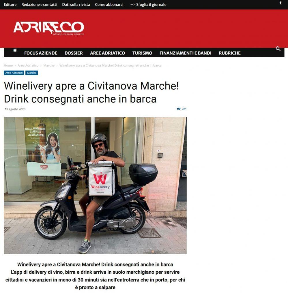 Winelivery apre a Civitanova Marche! Drink consegnati anche in barca (Adriaeco)