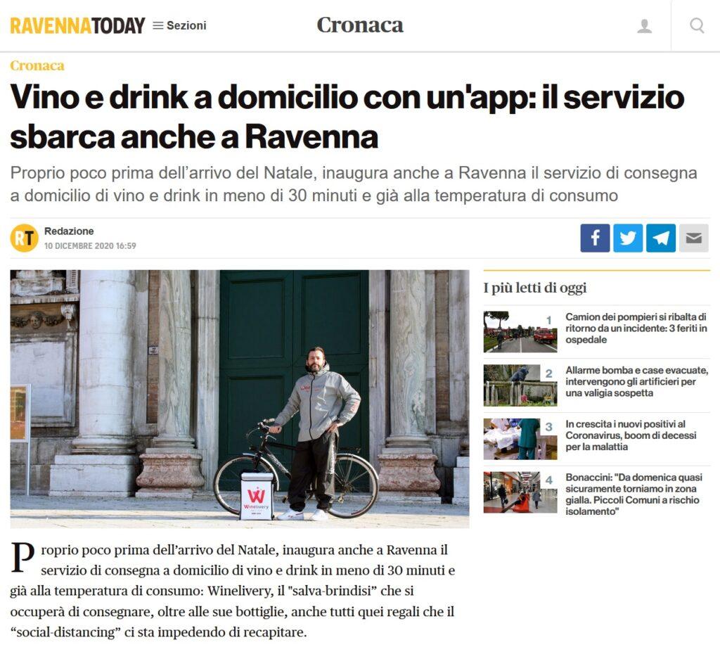 Vino e drink a domicilio con un'app: il servizio sbarca anche a Ravenna (RavennaToday)